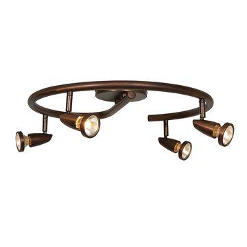 Access Lighting Mirage 4-light Bronze Flush Mount