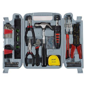 130 pc Tool Set & Case Auto Home Repair Kit DIY Stalwart Household Hand Tools