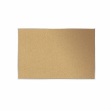 Ghent Natural Cork Bulletin Board with Aluminum Frame, 2'H x 3'W