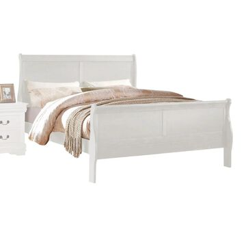 Acme Furniture Louis Philippe Bed, White