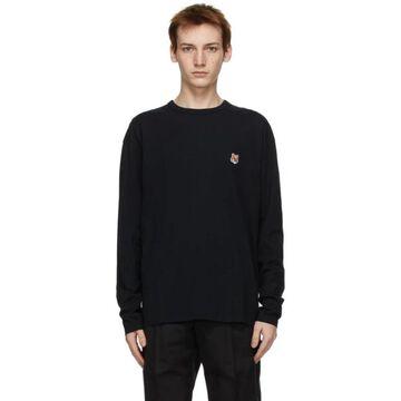Maison Kitsune Black Fox Head Long Sleeve T-Shirt
