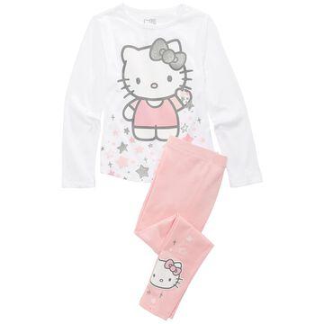Little Girls 2-Pc. Hello Kitty T-Shirt & Leggings Set