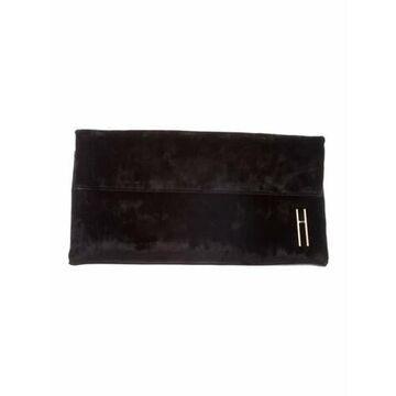 Velvet Clutch Bag Black