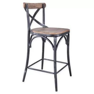 """Armen Living Sloan 26"""" Bar and Counter Stool in Pine"""