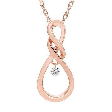 "Boston Bay Diamonds Sterling Silver Dancing Diamond Accent Infinity Pendant Necklace, Women's, Size: 18"", White"