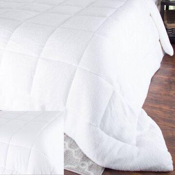 Somerset Home Oversized Reversible Down Alt Comforter with Sherpa