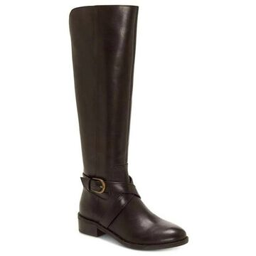 INC International Concepts Womens Fadoral Wide Calf Leather Fashion Boots