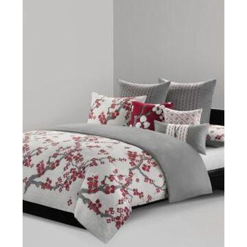 Natori Cherry Blossom Queen 3 Piece Duvet Cover Mini Set Bedding