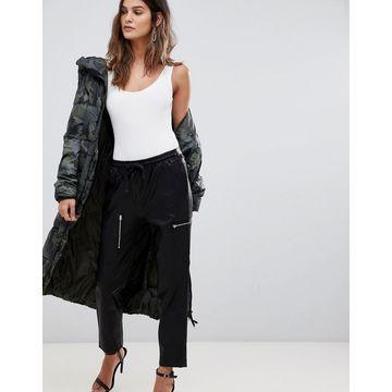 G-Star Powel leather look jogger-Black