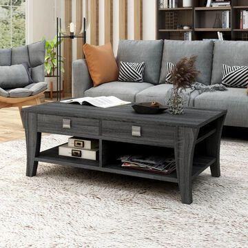Furniture of America Werc Contemporary Grey 47-inch 2-shelf Coffee Table