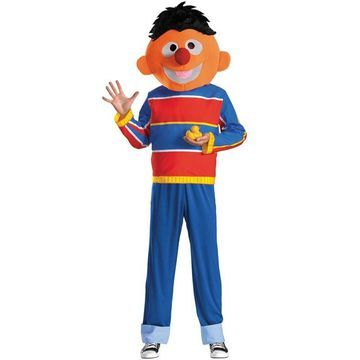Disguise Ernie Adult Costume-X-Large (42-46)