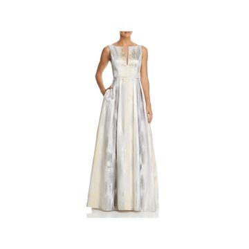 Aidan Mattox Womens Formal Dress Metallic Sleeveless