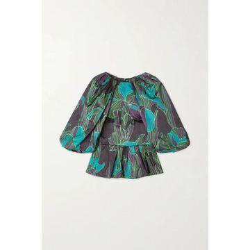 Dries Van Noten - Floral-print Woven Blouse - Dark green