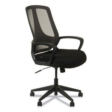 Alera Alera Mb Series Mesh Mid-back Office Chair, Supports Up To 275 Lbs., Black Seat/black Back, Black Base