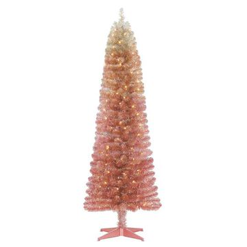 6Ft Pre-Lit Alexa Artificial Christmas Tree, Clear Lights by Ashland in Pink   Michaels