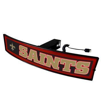 FANMATS New Orleans Saints Light Up Trailer Hitch Cover