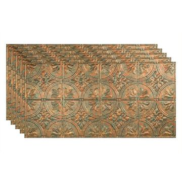 Fasade 48-in x 24-in Traditional 2 5-Pack Copper Fantasy Patterned Surface-Mount Ceiling Tiles