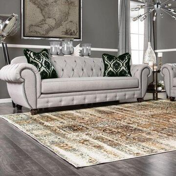 Superior High Quality Soft, Plush and Durable 10mm Moisture and Mildew Resistant Waterford Collection Area Rug, 8' x 10' Ivory