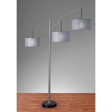 "91"" Wellington Arc Lamp Silver - Adesso"