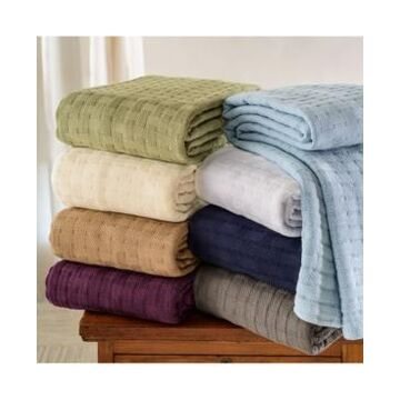 Superior Basket Weave Woven All Season Blanket, King Bedding