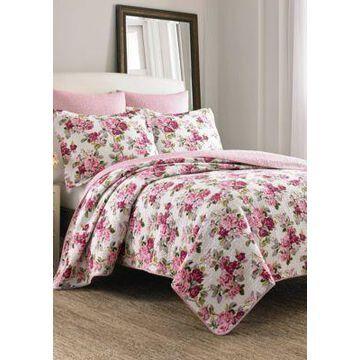 Laura Ashley Lidia Multi Pink Quilt Set - -