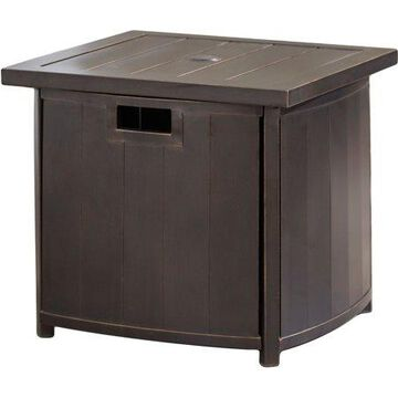 Hanover 25 In. Square Umbrella Side Table with Slat Tabletop