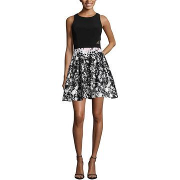 Xscape Womens Party Dress Printed Fit & Flare