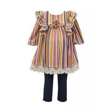 Bonnie Jean Girls' Baby Girls Stripe Leggings Set - -