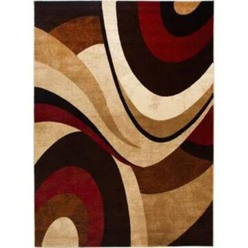Home Dynamix Zone Asha Contemporary Animal Area Rug (3 Piece Set - Brown/Red)