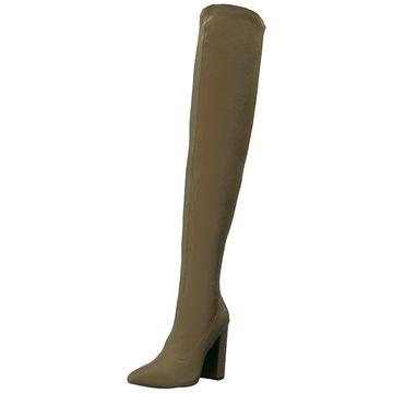 Qupid Women's Signal-20 Over The Knee Boot, Khaki, Size 9.0
