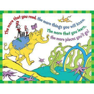 Eureka EU-837413BN 6 Each Dr. Seuss the More You Read Poster