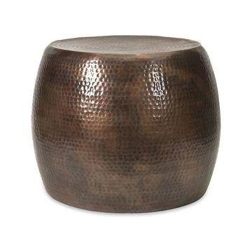 Nuria Bronze Gold Round Indoor Outdoor Metal Decor Table