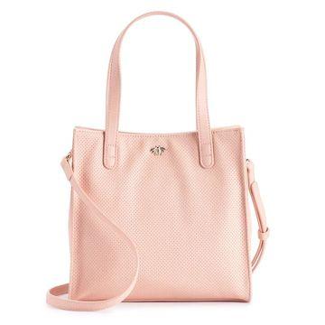 LC Lauren Conrad Perforated Crossbody Handbag