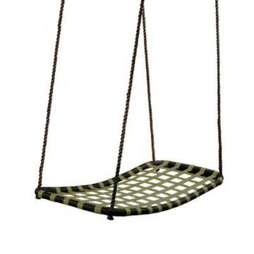 Gorilla Playsets Chill 'N Swing w/ Rope, 43.5 in. x 21.5 in., 220 lb. Capacity, For Kids Ages 3-11, 04-0030-BK/G/BK