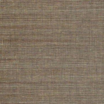 Kenneth James Marcin Brown Grasscloth Wallpaper