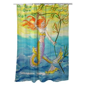 SH373 70 x 72 in. Betsys Mermaid Shower Curtain
