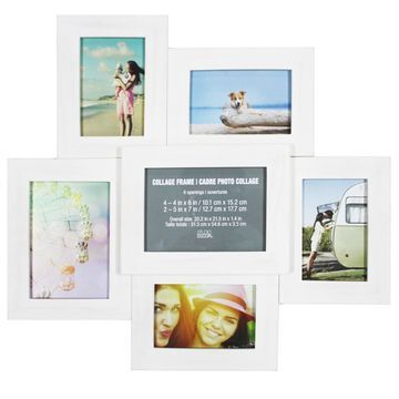 6 Opening White Collage Frame by Studio Decor