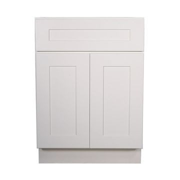 Design House Brookings Ready to Assemble 24 x 34.5 x 24 in. Base Cabinet Style 2-Door with 1-Drawer in White