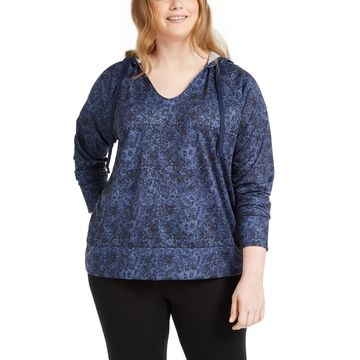 Plus Size Python-Print Hoodie, Created for Macy's