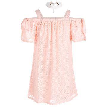2-Pc. Lace Dress & Choker Necklace Set, Big Girls