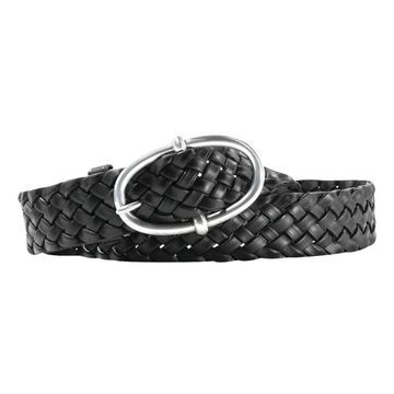Ariat Western Belt Mens Leather Braided Durable Black
