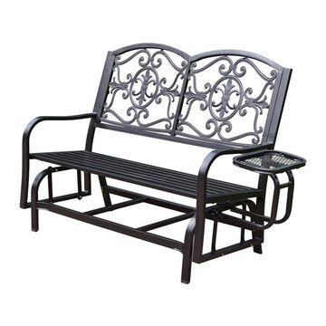 Oakland Living Lakeville 3-person Hammer Tone Bronze Iron Outdoor Glider
