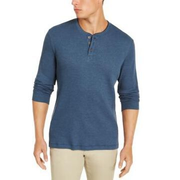 Club Room Men's Thermal Henley Shirt, Created for Macy's