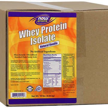 Whey Protein Isolate Vanilla Now Foods 10 lbs Powder