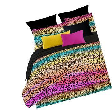 Veratex Street Revival 100% Polyester 4-Piece Kids Rainbow Leop... Free Shipping