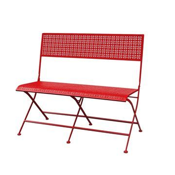 Jeco Qamar Red Iron Park Bench