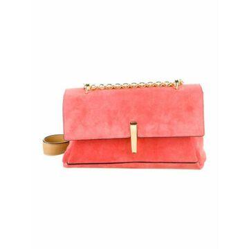 Suede Flap Crossbody Bag Pink