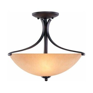 Volume Lighting V4173 Rainier 3 Light Semi-Flush Ceiling Fixture
