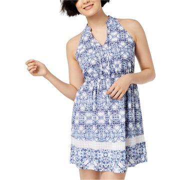 maison Jules Womens Geo A-line Dress