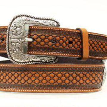 Ariat Men's Basket Weave Conch Belt, A1013248